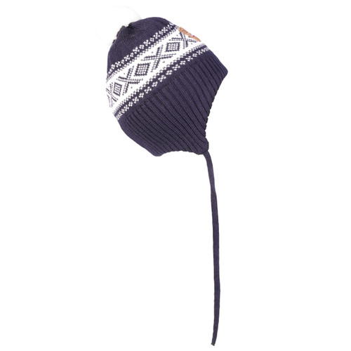 Dale of Norway Cortina Kids Hat 2-4, Navy/Off White, 43331-C