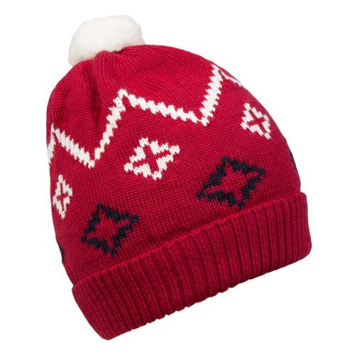 Dale of Norway Seefeld Kids Hat 4-8 - Raspberry/Navy/Off White 48241-B