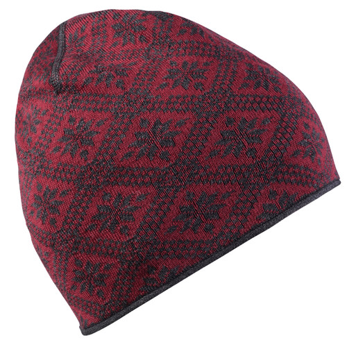 Dale of Norway Christiania Hat - Ruby Mel/Dark Charcoal, 48701-V