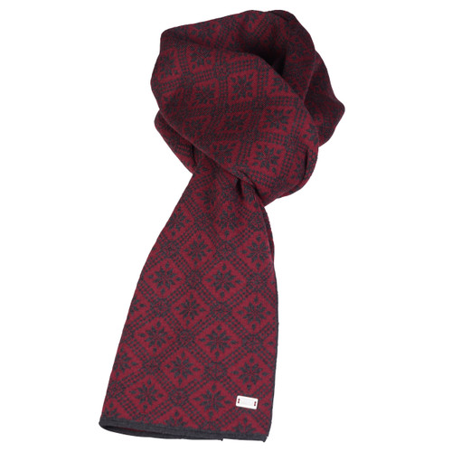 Dale of Norway Christiania Scarf - Ruby Mel/Dark Charcoal, 11701-V