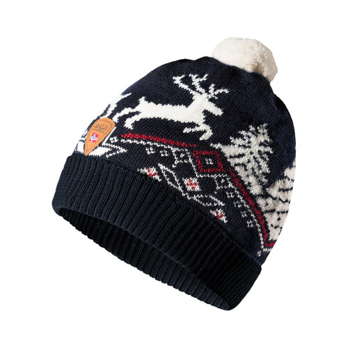 Dale of Norway Dale Christmas Kids' Hat - Navy/Off White/Raspberry 48301-C