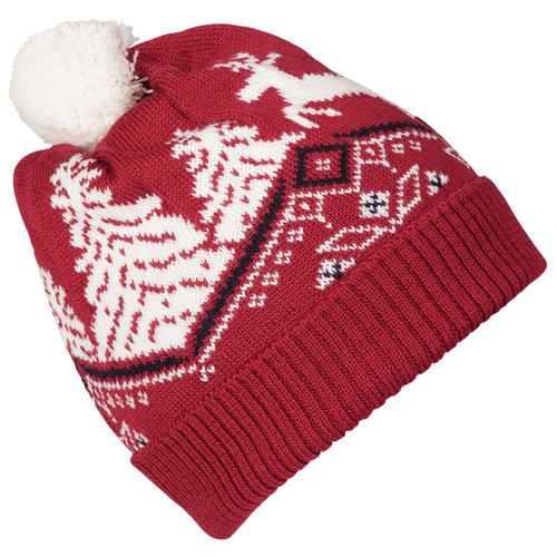 Dale of Norway Dale Christmas Kids' Hat 4-8, Raspberry/Off White/Navy 48301-B