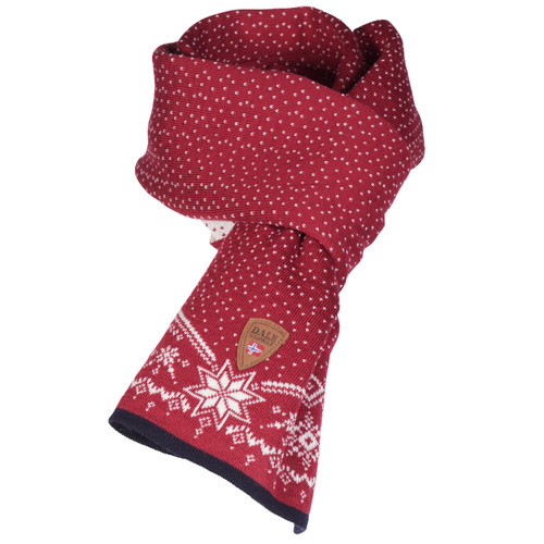 Dale of Norway Dale Christmas Scarf - Raspberry/Off White/Navy, 11711-B