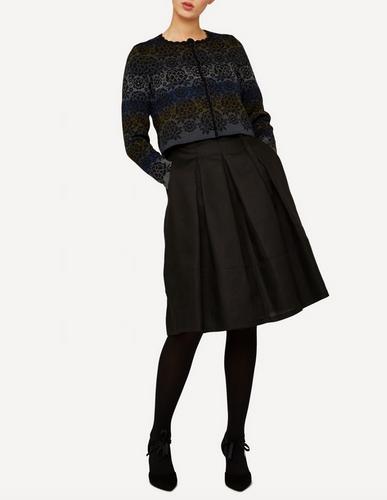 Annika Oleana Short Cardigan, 342O, Black