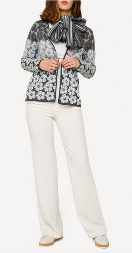 Oleana Bloss Mid-Length Cardigan, 350D Grey