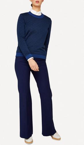 Oleana Pullover, Small Dots Jumper, Pullover, 349W, Dark Blue