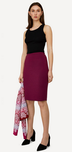 Ester Oleana Short Knitted Skirt, 321K2 Plum