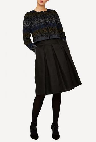 Emma Oleana Short 100% Linen Skirt, 88O Black