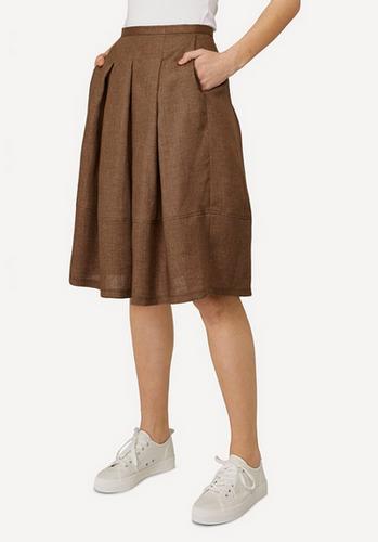 Emma Oleana Short 100% Linen Skirt, 88H Brown