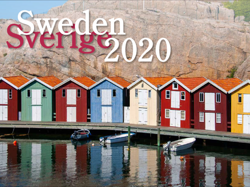 2020 Sweden Calendar in Photographs - Nordiskal