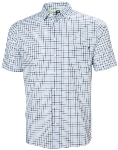 Helly Hansen Fjord QD SS Shirt, Men's - White Check, 34048-001
