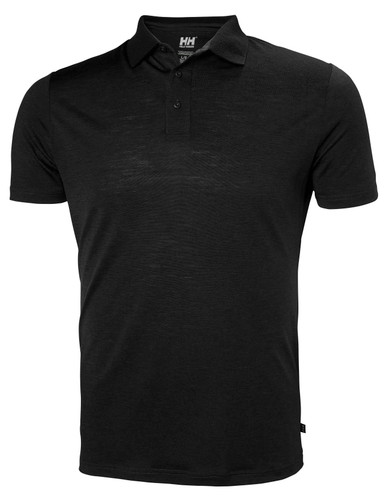 Helly Hansen Merino Light SS Polo, Men's - Black, 49320-990