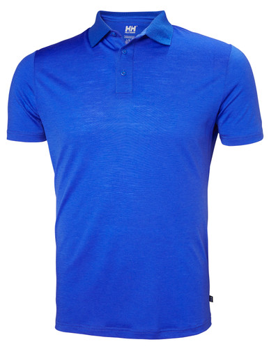 Helly Hansen Merino Light SS Polo, Men's - Olympian Blue, 49320-563