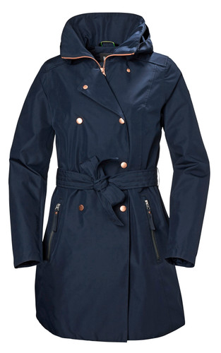 Helly Hansen Welsey II Trench, Women's - Navy, 53247-598