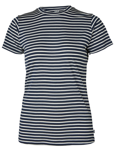 Helly Hansen Merino Graphic Tee, Women's - Navy Stripe, 49323-597