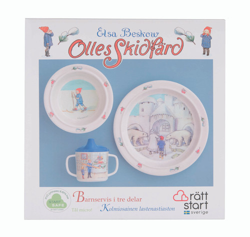 Ollie's Ski Trip - Children's Dish Set