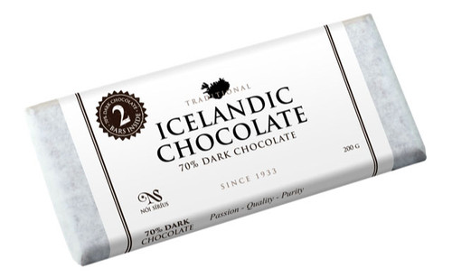 Nói Síríus Icelandic Chocolate - 70% Dark Chocolate , 200g