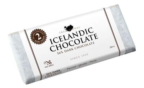 Nói Síríus Icelandic Chocolate - 56% Dark Chocolate, 200g (25113)