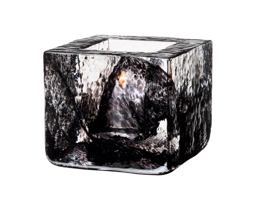 Kosta Boda Brick Votive, Black (7061030)