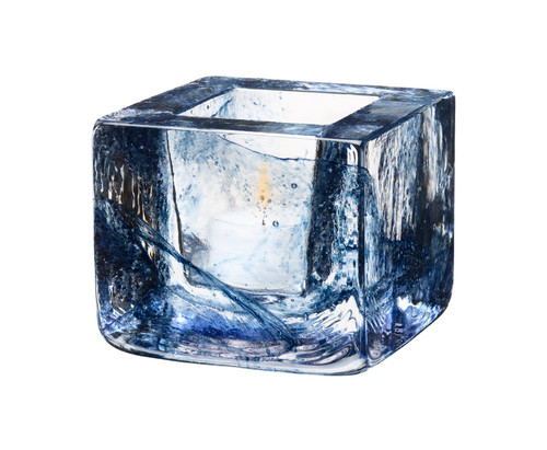 Kosta Boda Brick Votive, Blue (7061032)