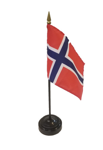 Norwegian Tabletop Flag (20190619-01)