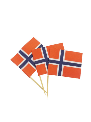 Norwegian Cake Flags, Package of 50 (20190619-03)