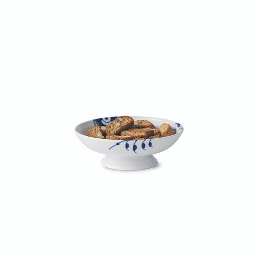"Royal Copenhagen Blue Fluted Mega - Footed Bowl 6.75"" (1026444)"