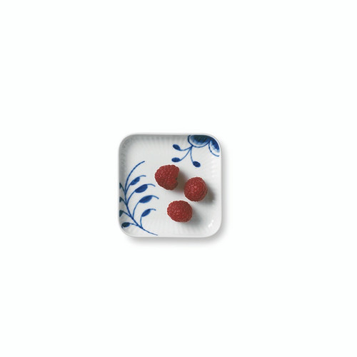 "Royal Copenhagen Blue Fluted Mega - Small Square Plate 4"" (1027457)"
