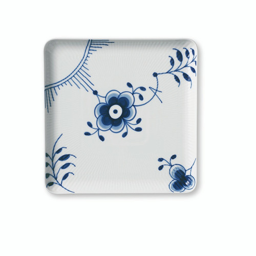 "Royal Copenhagen Blue Fluted Mega - Large Square Plate 8"" (1027458)"
