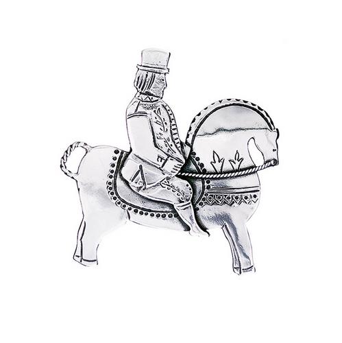 Huldre of Norway - Bridal Brooch, Silver - Groom (30005)
