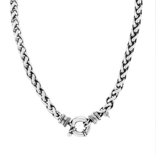 Huldre of Norway - Palm Silver Necklace, 5mm (32083)