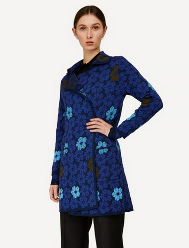 Oleana Bloss Long Cardigan, 358W Blue