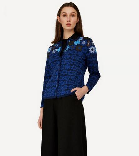 Prima Vera Oleana Mid-Length Cardigan, 356W Blue