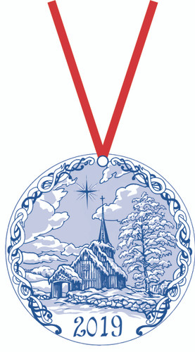 2019 Stav Church Ornament - Hegge