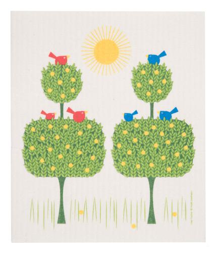 Swedish  Dishcloth - Topiary Birds (1055-0221-0200)