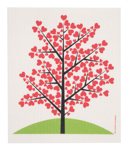 Swedish Dishcloth - Tree of Hearts (1055-0221-0400)