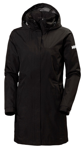 Helly Hansen Aden Long Coat, Women's - Black, 62648-990 (62648-990)