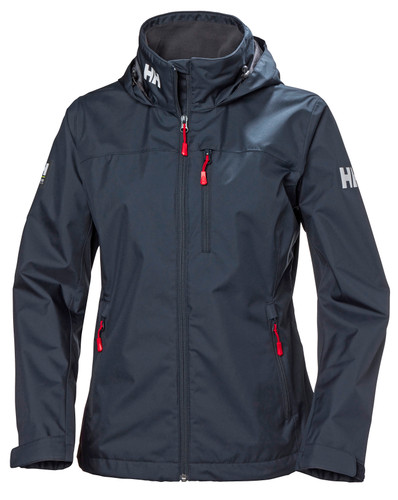 Helly Hansen Crew Hooded Jacket, Women's - Navy, 33899-598