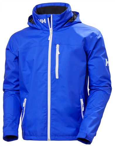 Helly Hansen Crew Hooded Jacket, Men's - Royal Blue, 33875-514