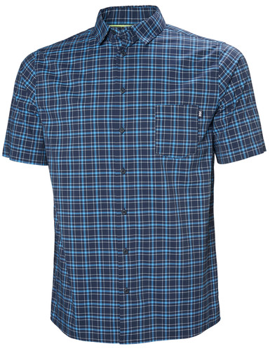 Helly Hansen Fjord QD SS Shirt, Men's - Navy Check, 34048-597