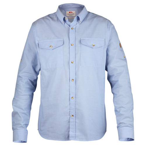 Fjällräven Övik Chambray Shirt, Men's, Blue Ridge- F81545-519