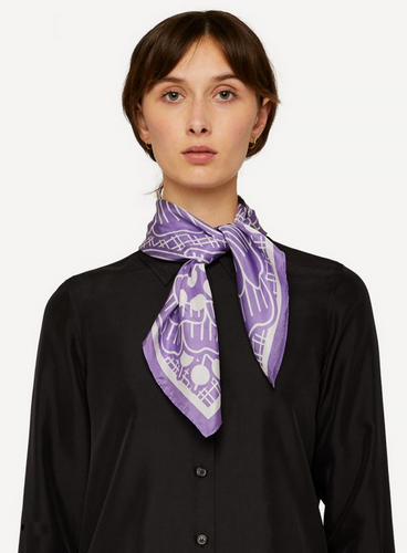 Oleana Romantic and Square Scarf, 519-C Soft Lavender