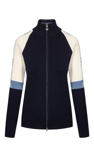 Dale of Norway Geilo Jacket, Ladies - Navy/Off White/Blue Shadow, 83461-C