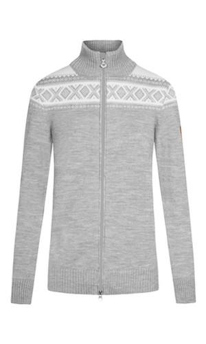 Dale of Norway Cortina Merino Cardigan, Ladies - Light Charcoal/Off-White, 83311-T