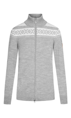 Dale of Norway Cortina Merino Cardigan, Ladies - Light Charcoal/Off-White, 83311-T