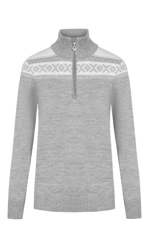 Dale of Norway Cortina Merino Sweater, Ladies - Light Charcoal/Off White, 93811-T