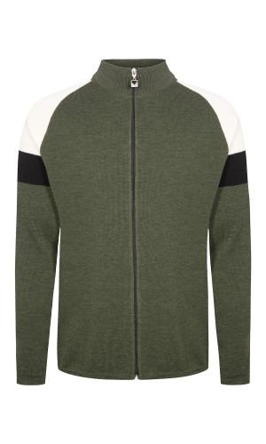 Dale of Norway Geilo Cardigan, Mens - Dark Green/Off White/Black, 83531-N
