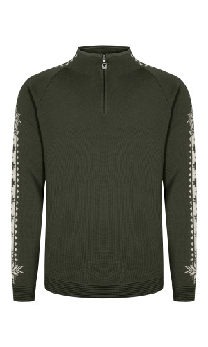 Dale of Norway Geilo Pullover, Mens - Dark Green/Off White, 82321-N