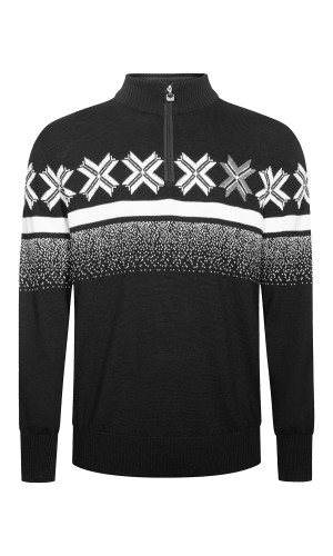 Dale of Norway Olympic Passion Pullover, Mens - Black/Off White/Smoke, 93361-F
