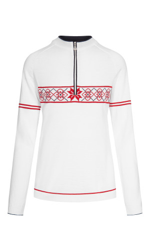 Dale of Norway Tokyo Pullover, Ladies - White/Raspberry/Navy, 94241-A
